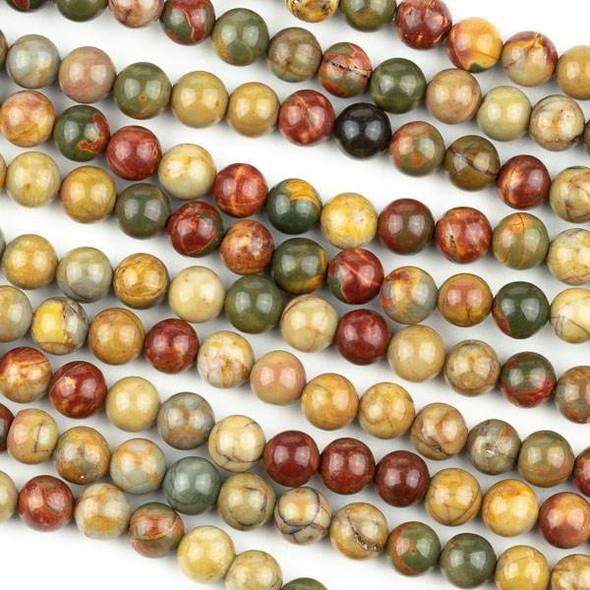 Red Cherry Creek Jasper 6mm Round Beads - 15 inch strand