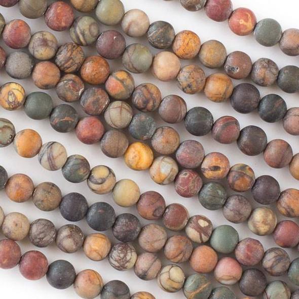 Matte Red Cherry Creek Jasper 6mm Round Beads - 16 inch strand