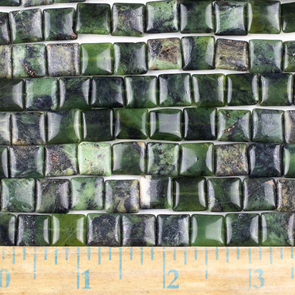 Chinese Jade 10mm Square Beads - approx. 8 inch strand, Set A