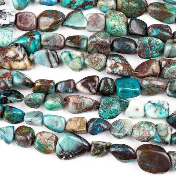Chrysocolla 10x12-16x20mm Nugget Beads - 15 inch strand