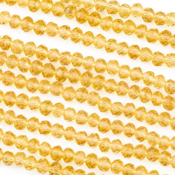 Crystal 3x4mm Champagne Rondelle Beads -Approx. 15.5 inch strand