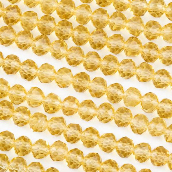 Crystal 4x6mm Champagne Rondelle Beads -Approx. 15.5 inch strand
