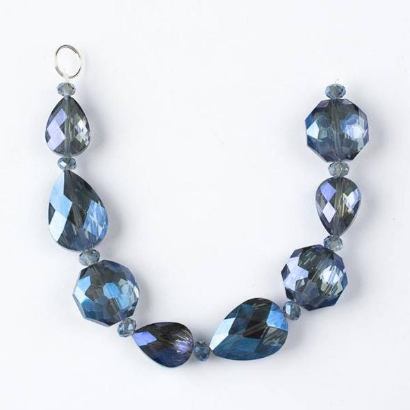 Crystal Artisan Strand - Style #4-2 Teardrop Mix, Midnight Blue