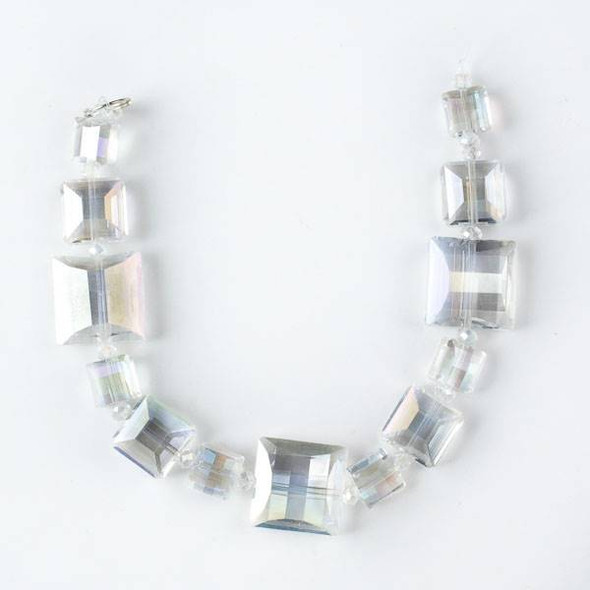 Crystal Artisan Strand - Style #9-2 Square Mix, Crystal AB