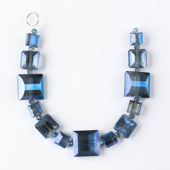 Crystal Artisan Strand - Style #9-2 Square Mix, Midnight Blue