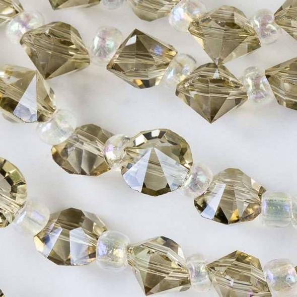 Crystal 6mm Honey Faceted Rivets - approx. 8 inch strand