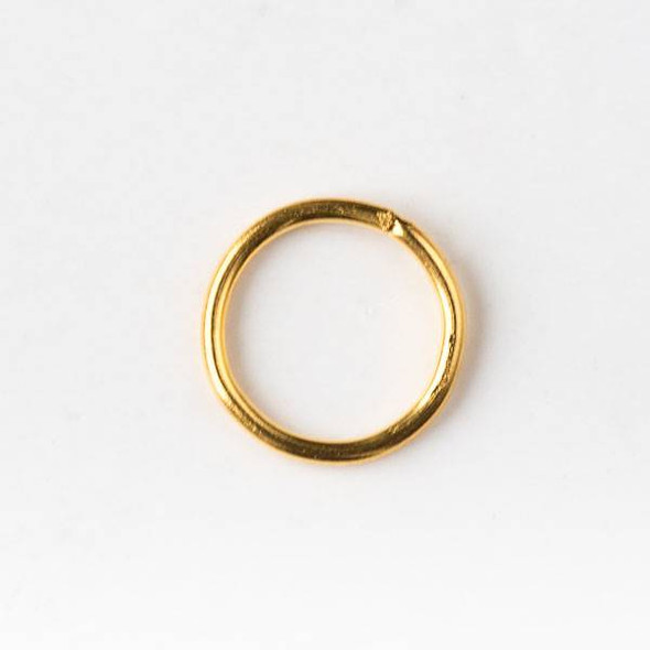 Gold Plated Brass 8mm Soldered Closed Jump Rings - 20 gauge - 100 per bag - CTB-20gclosrg8g