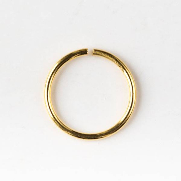 Gold Plated Brass 10mm Open Jump Rings - 20 gauge - 20 grams/approx. 100 per bag - CTB-20gopenrg10g
