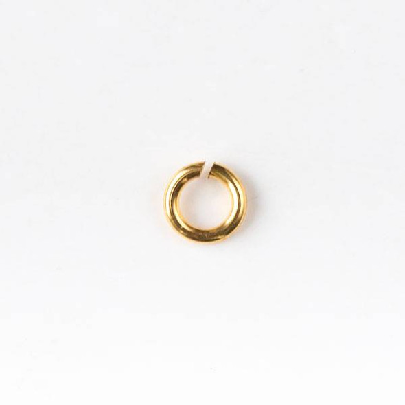 Gold Plated Brass 4mm Open Jump Rings - 20 gauge - 20 grams/approx. 200 per bag - CTB-20gopenrg4g