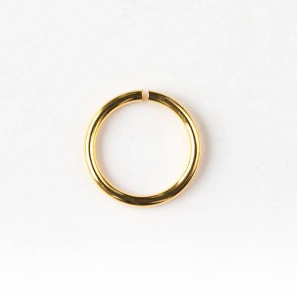 Gold Plated Brass 8mm Open Jump Rings - 20 gauge - 20 grams/approx. 200 per bag - CTB-20gopenrg4g