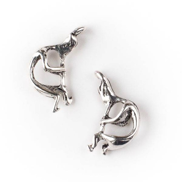 Silver Pewter 13x25mm Kokopelli Charm - 10 per bag