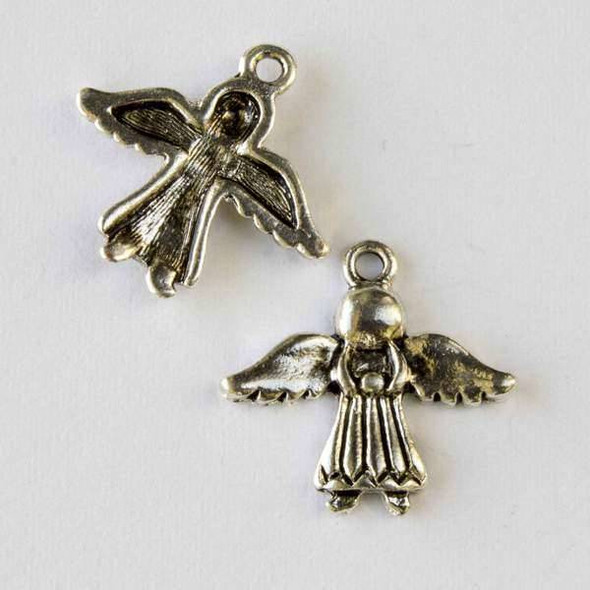 Silver Pewter 20x21mm Angel Charm - 10 per bag