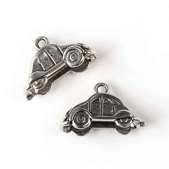 Silver Pewter 13x23mm Small Car Charm - 10 per bag