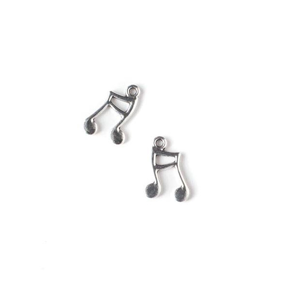 Silver Pewter 11x16mm Music Notes Charm - 10 per bag