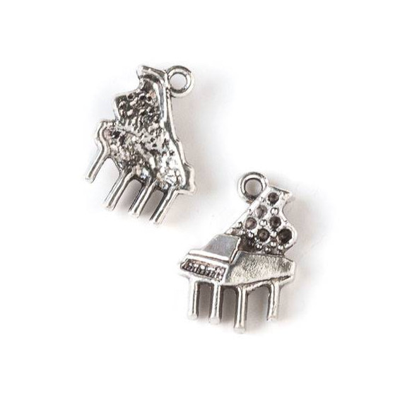 Silver Pewter 14x19mm Piano Charm - 10 per bag
