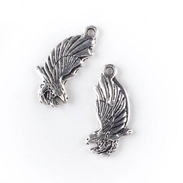 Silver Pewter 13x25mm Falcon Bird Charm - 10 per bag