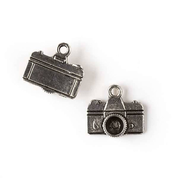 Silver Pewter 14x15mm Vintage Camera Charm - 10 per bag