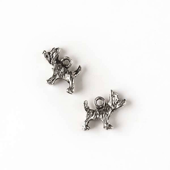 Silver Pewter 11x12mm Scotty Dog Charm - 10 per bag