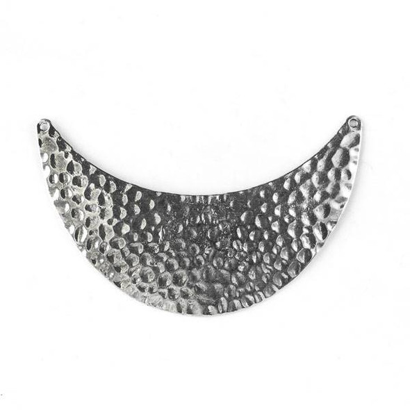 Silver Pewter 34x94mm Hammered Bib Centerpiece Link - style #16907 - 1 per bag