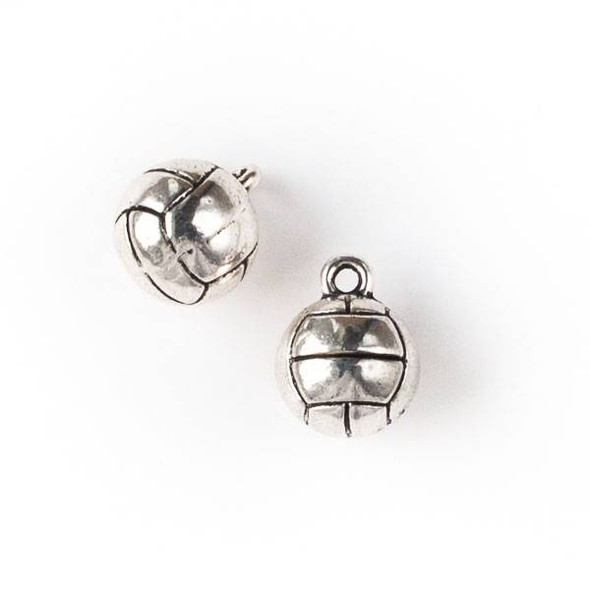 Silver Pewter 11x14mm Volleyball Charm - 10 per bag
