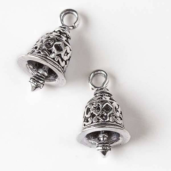 Silver Pewter 12x20mm Bell Charm - 4 per bag