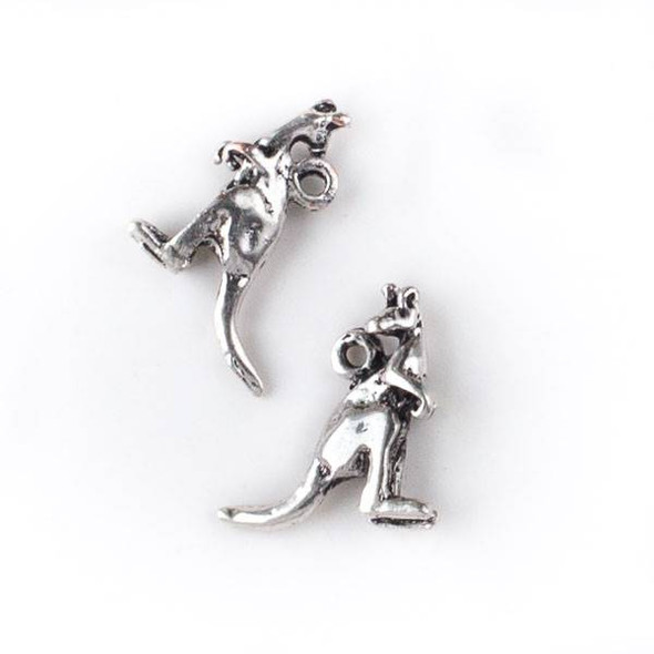 Silver Pewter 15x17mm Kangaroo Charm - 10 per bag