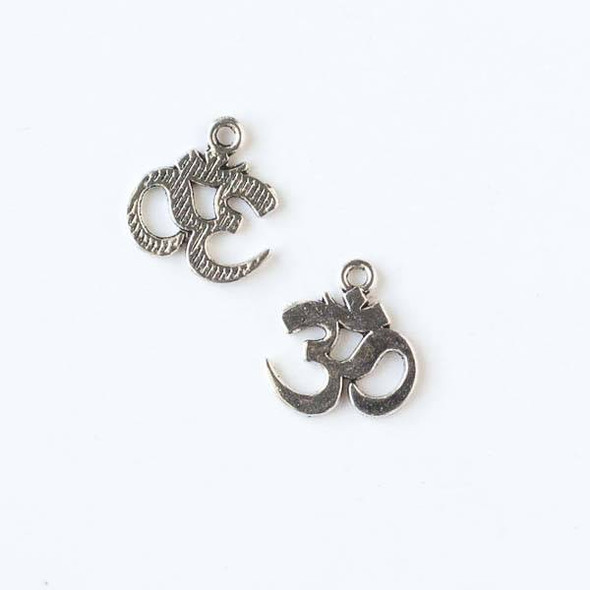 Silver Pewter 14x15mm Om Ohm Aum Charm - 10 per bag