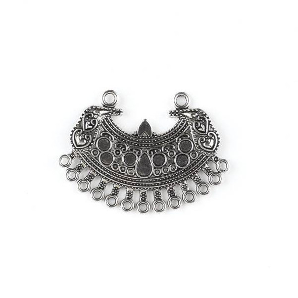 Silver Pewter 35x50mm Focal Link with Dangles - style #39557 - 2 per bag