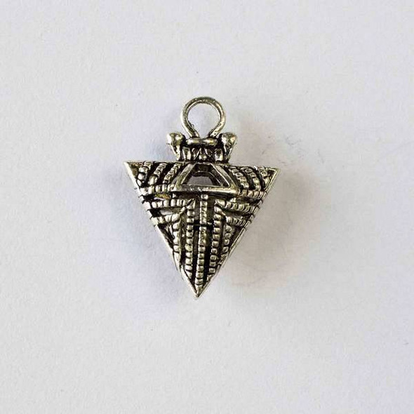 Silver Pewter 18x24mm Hollow Tribal Arrow Pendant - 2 per bag