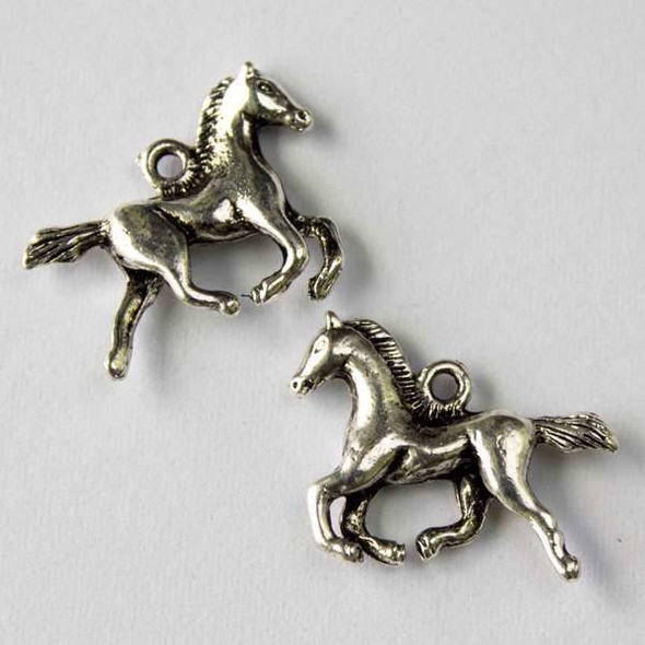 Silver Pewter 17x22mm Horse Charm - 10 per bag