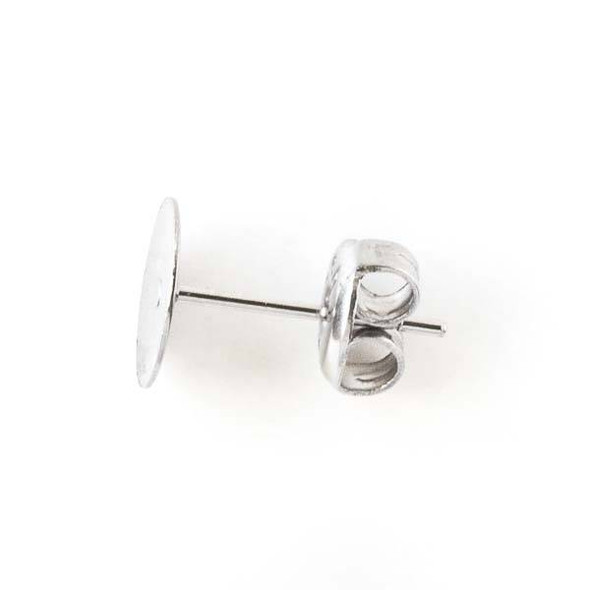 Stainless Steel Blank Earring Posts, 8mm - 17 pairs/34 pieces - CTB49-8