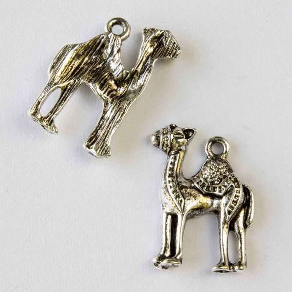 Silver Pewter 15x20mm Camel Charm - 10 per bag