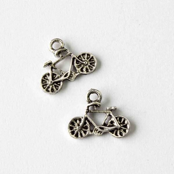 Silver Pewter 11x15mm Bicycle Charm - 10 per bag