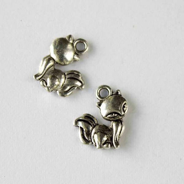 Silver Pewter 12x15mm Cat Charm - 10 per bag