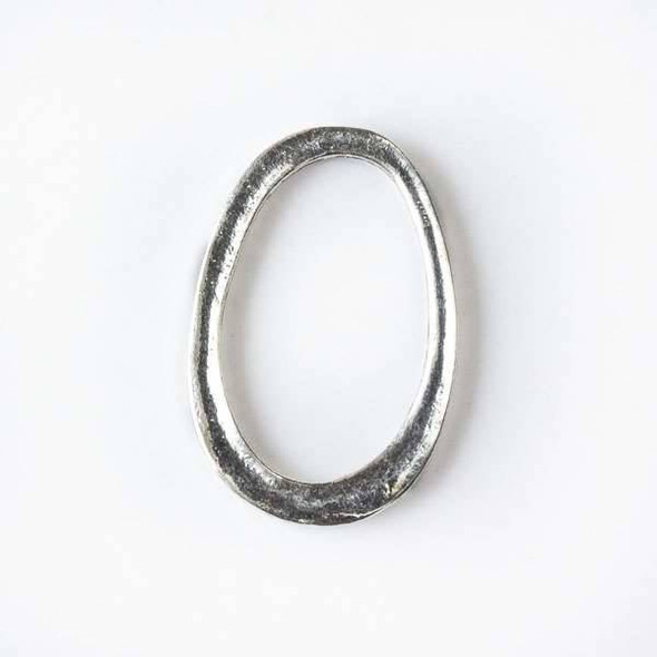 Silver Pewter 21x31mm Free Form Oval Links - 6 per bag - CTB60576s