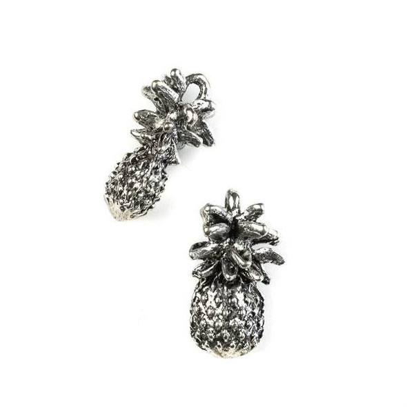 Silver Pewter 12x23 Pineapple Charm - 4 per bag