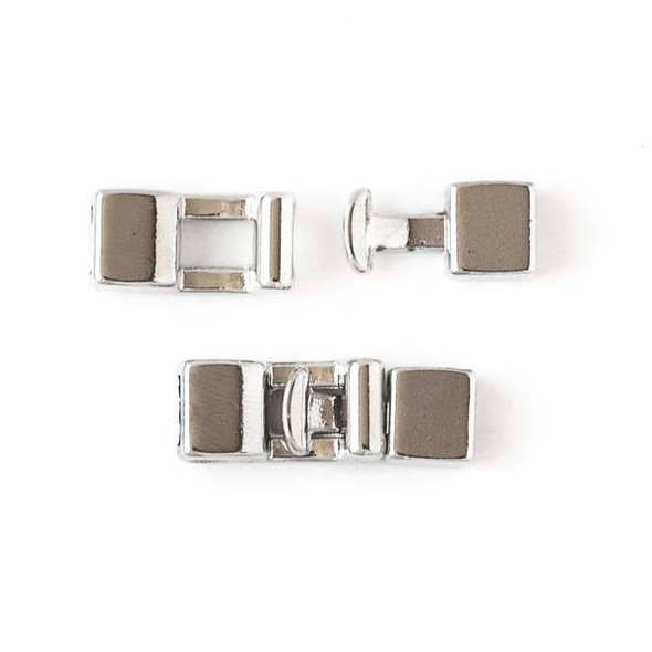 Stainless Steel 8x16mm Clasp -  4 sets per bag - CTBMC023ss