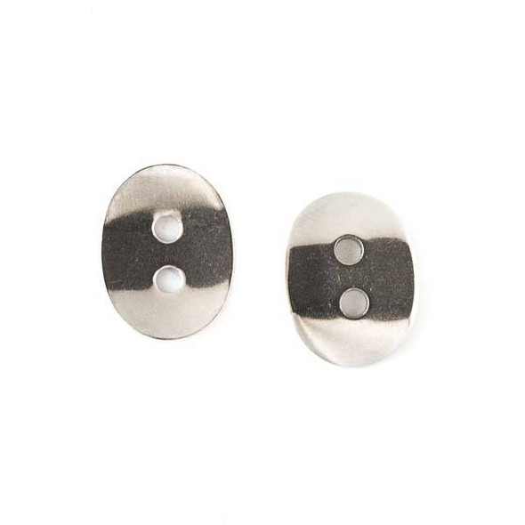Stainless Steel 11x14mm Curved Button Clasp - 16 per bag - CTBP150401ss
