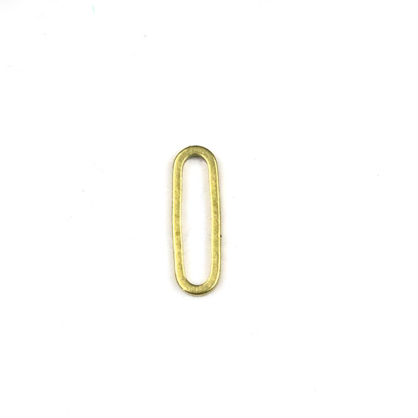 Raw Brass 5x15mm Oval Paper Clip Link Components - 6 per bag - CTBPF-002