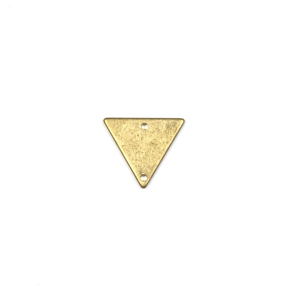 Raw Brass 13x15mm Triangle Link Components - 6 per bag - CTBPF-004