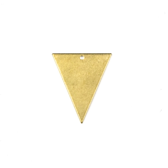 Raw Brass 22x25mm Triangle Drop Components - 6 per bag - CTBPF-005
