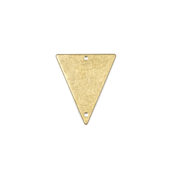 Raw Brass 22x25mm Triangle Link Components - 6 per bag - CTBPF-006