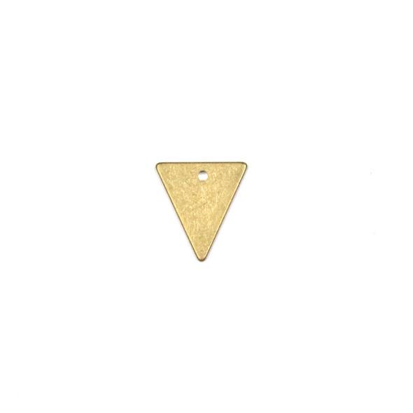 Raw Brass 11x13mm Triangle Drop Components - 6 per bag - CTBPF-011