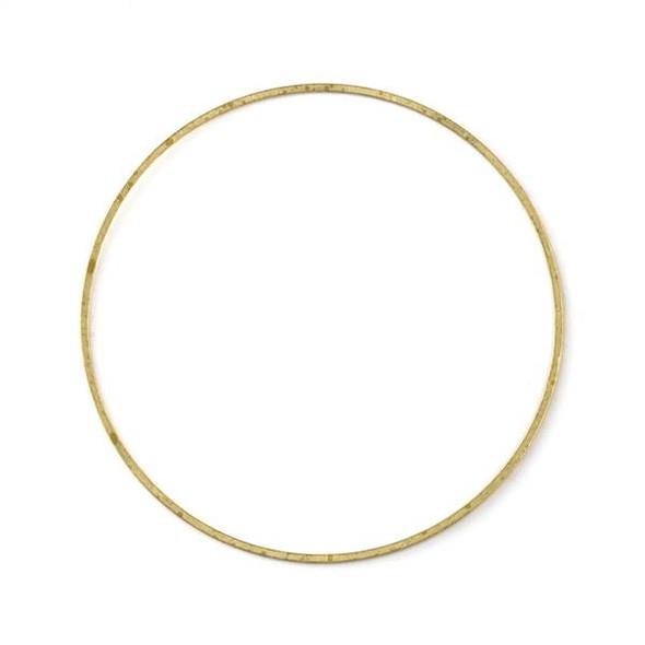 Raw Brass 54mm Hoop Link Components - 6 per bag - CTBXJ-003