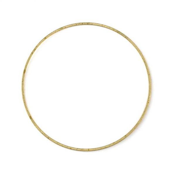 Raw Brass 54mm Hoop Link Components - 6 per bag - CTBXJ-003