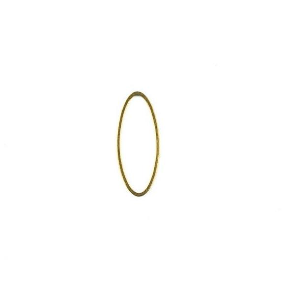 Raw Brass 10x25mm Oval Link Components - 6 per bag - CTBXJ-006