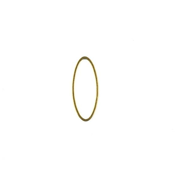 Raw Brass 10x25mm Oval Link Components - 6 per bag - CTBXJ-006