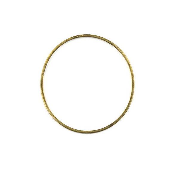 Raw Brass 36mm Hoop Link Components - 6 per bag - CTBXJ-008