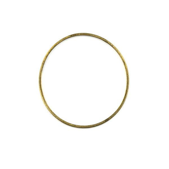 Raw Brass 36mm Hoop Link Components - 6 per bag - CTBXJ-008