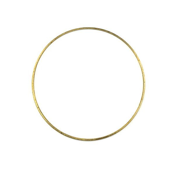 Raw Brass 44mm Hoop Link Components - 6 per bag - CTBXJ-010